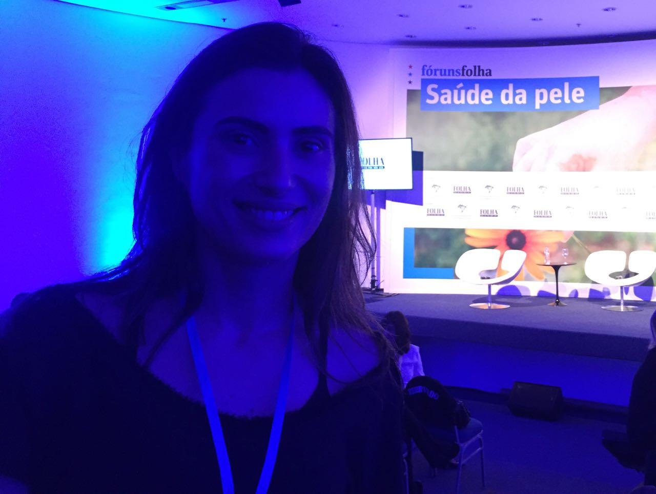 Dra. Lílian Licarião no Forum Saúde da Pele promovido pela Folha em parceria com a Sociedade Brasileira de Dermatologia!